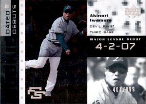2007 Upper Deck Rookie Debut Akinori Iwamura /999 Silver Parallel RC Dated Rays