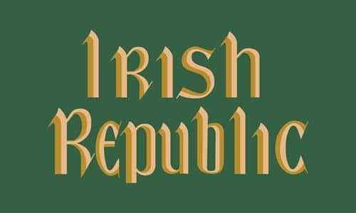 Giant Irish Republic Flag 8 x 5 FT Easter Rising Republican Ireland Coffin