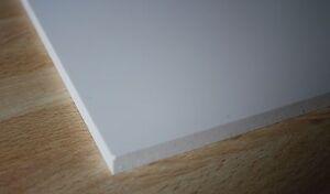 1 hart pvc vollmaterial platte wei 120x245x10mm ebay. Black Bedroom Furniture Sets. Home Design Ideas