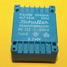 1 x Kleintrafo Trafo Transformator BV222-1-01240 KLF 3,5VA Schaffer 1pcs