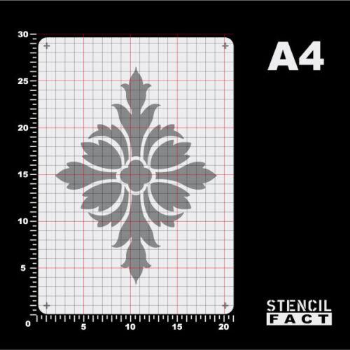 A4 Schablone Kreuz Rosette Dekor Ornament BE430