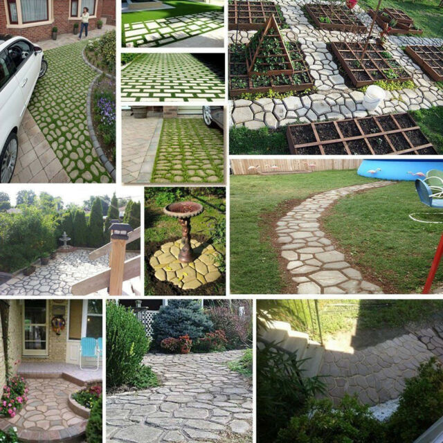 2-5x8 Cobble Brick Patio Paver Concrete Stepping Stone Mold  2019 Moldcreations