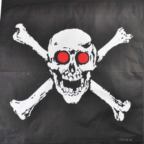 Red-Eye Crossbones Skull Bandana Headwear Bandanna Scarf Wrist Wrap Headtie B3