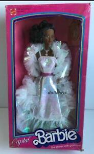 1983-CRYSTAL-Barbie-Doll-African-American-Mattel-4859-NRFB-Superstar-Era-A-A-Box