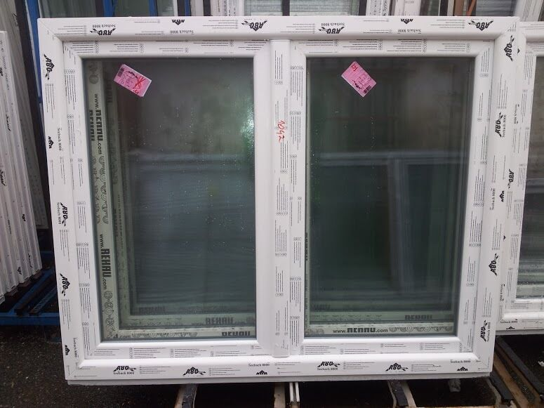 Kunststofffenster (Kunststoff – Fenster) 150x150 cm bxh, (1500x1500 mm bxh),weiß