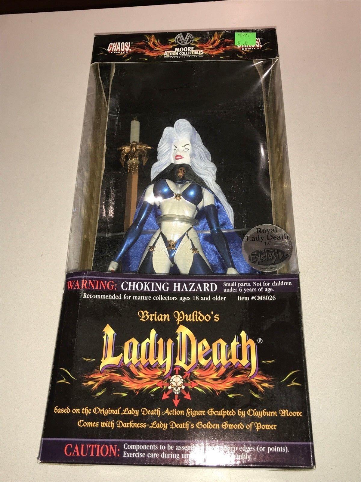 Moore   Chaos Comics Brian Pulido's Lady Death 12  MIB RARE blu Bikini