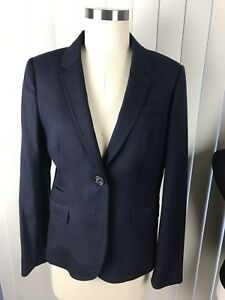 J-CREW-Tall-classic-schoolboy-blazer-linen-Navy-Blue-SZ-6-T-JACKET
