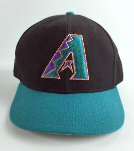 Arizona-Diamondbacks-Fitted-Baseball-Hat-New-Era-5950-Model-Teal-7-3-8-Vintage
