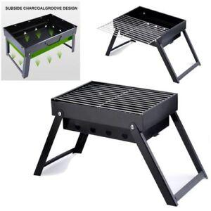 Portable Barbecue Charcoal Grill Folding Stove Shish Kabob Camping Outdoor Bbq