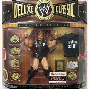 WWE-STEVE-AUSTIN-FR-O-PIEDRA-DELUXE-CLASICO-EDICIoN-LIMITADA-FIGURA-CON-CINTURoN