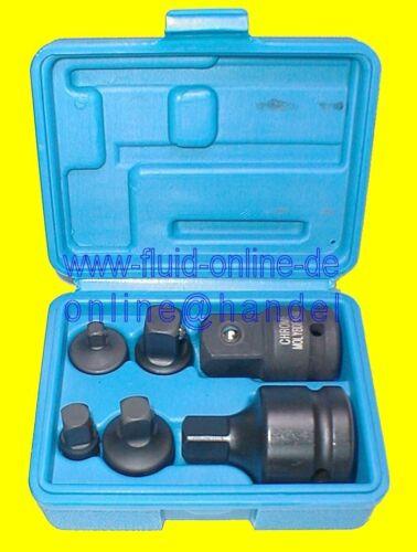 """Bgs 200 adaptador frase Impact atornillador eléctrico nueces nuez 3//8/"""" 1//2/"""" 3//4/"""" 6tlg CrMo"""
