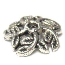 20 pieces Tibetan Silver Alloy Bead Caps - 10mm - A0554