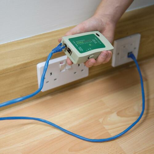 Testeur de câblage réseau pour câbles RJ11 et RJ45 6P6C2 et 8P8C