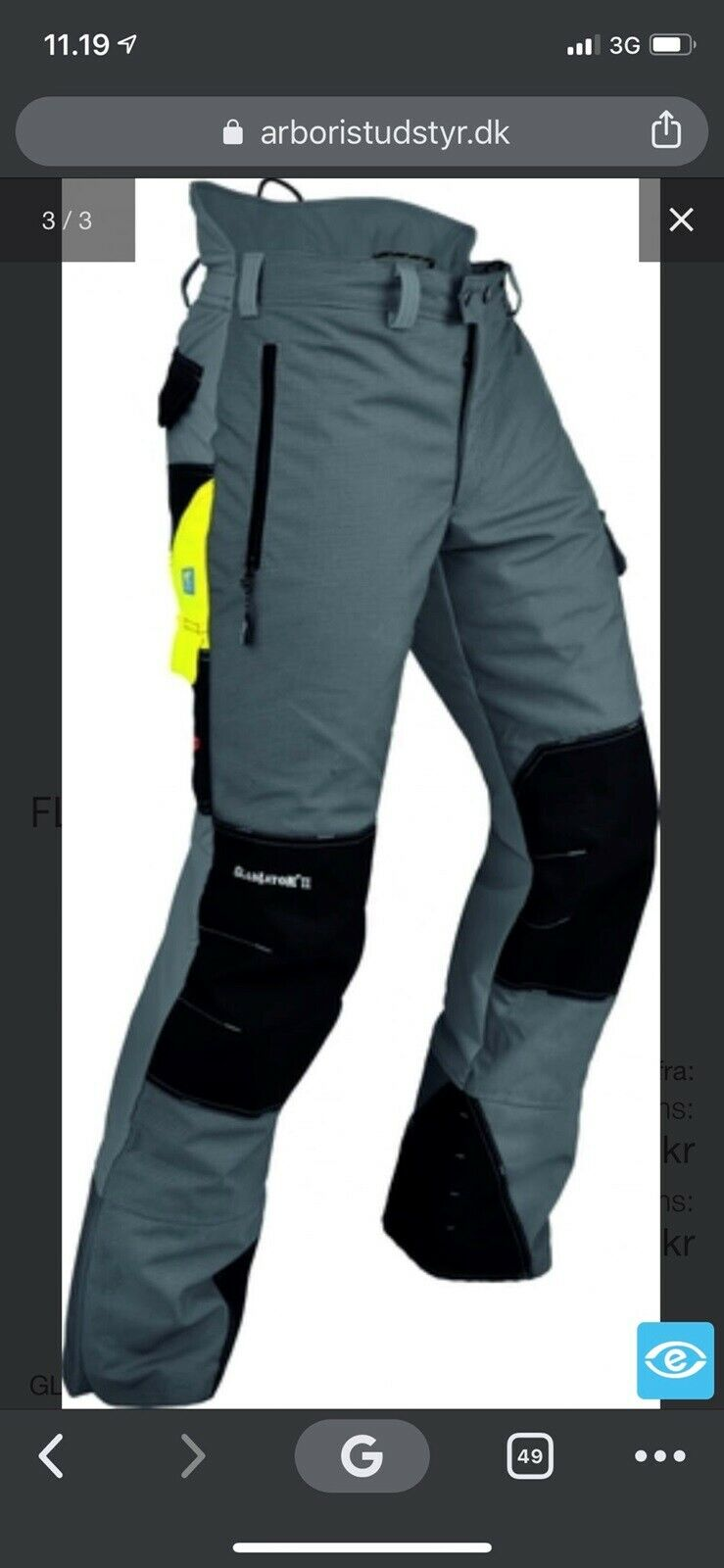 Pfanner skære bukser grå Class 2 str