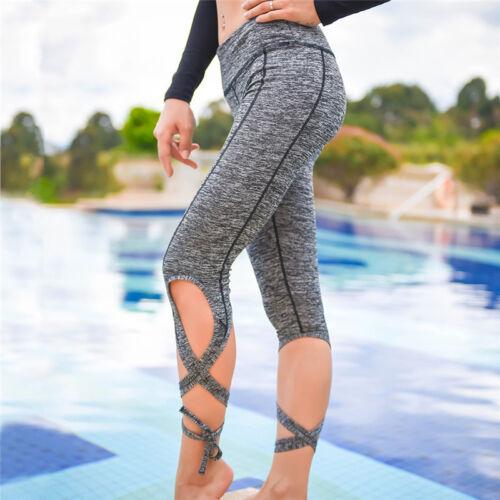 jogging donna in Pantaloni da con cintura con jogging caldo ginnastica corte maniche da vita da in wTqwgz6