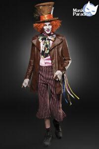 Hutmacher-Kostuem-Mad-Hatter-Fasching-Karneval-Herren-Verkleidung-Halloween-NEU