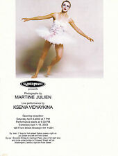 BALLET DANCER KSENIA VIDYAYKINA UNUSED ADVERTISING COLOUR POSTCARD