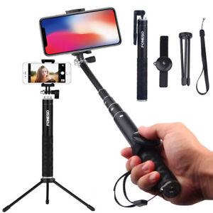 58dfe675a15cb7 Image is loading Extendable-Selfie-Stick-wireless-Remote-Shutter-Tripod- Mount-