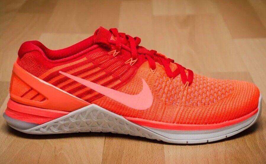 160 Nike Metcon DSX Flyknit Training Men's Size 14 Hyper Orange