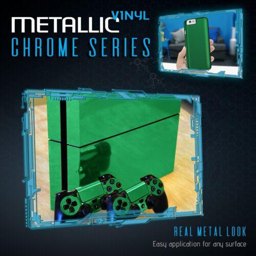 """Green Chrome Mirror Vinyl Wrap Film Roll Sheet Air Bubble Free 12/"""" x 60/"""" In"""
