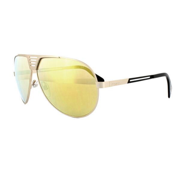 92a7e388849a Diesel Eyewear Dl0134 Gold Metal Frame Yellow Mirror Lens Sunglasses ...
