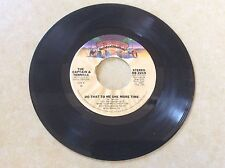 CAPTAIN & TENILLE - DO THAT TO ME ONE MORE TIME - CASABLANCA 45rpm - EX