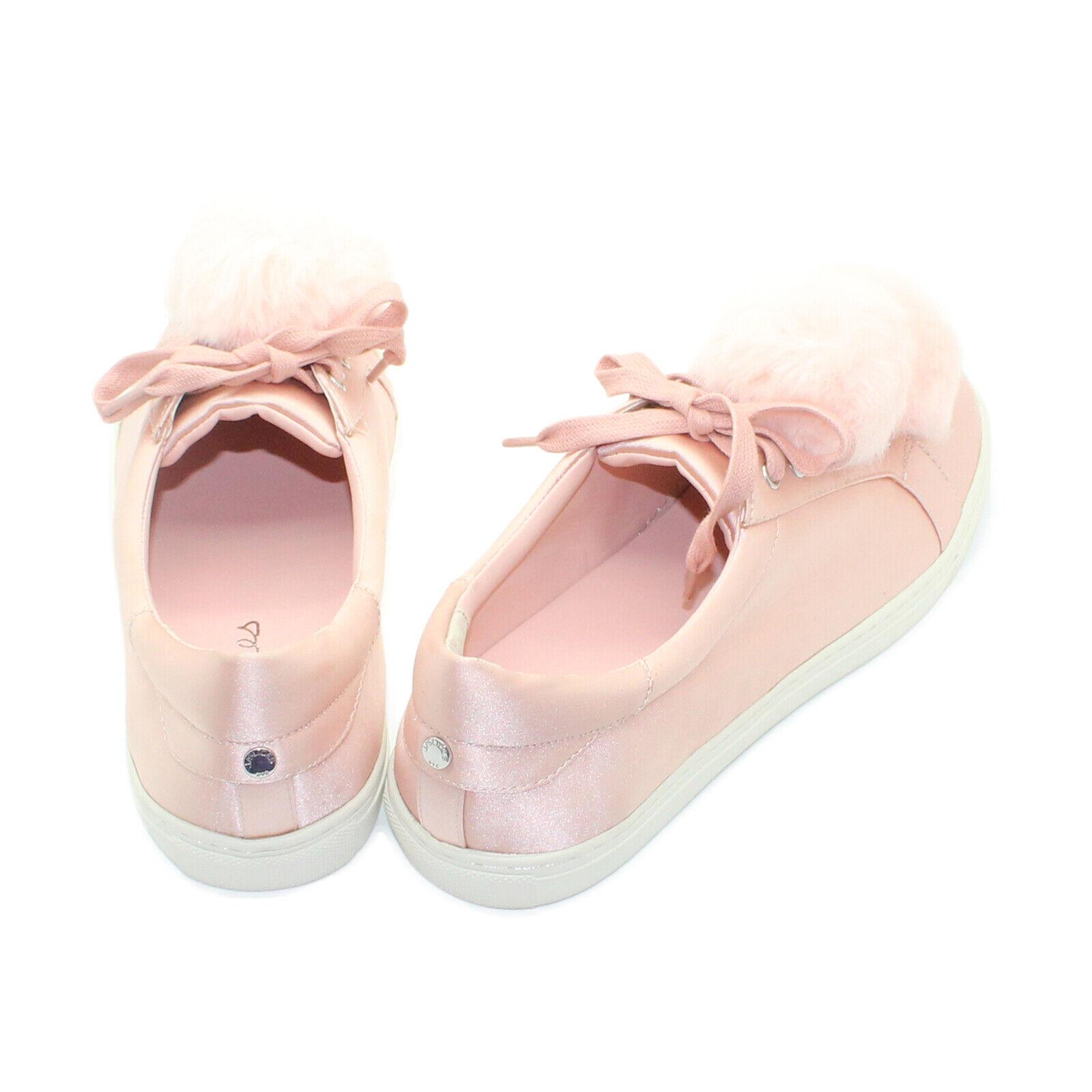 J SLIDES NYC Satin Slip-On Slip-On Slip-On Pompom Lace Up Sneaker - Choose Size & color 1d869d