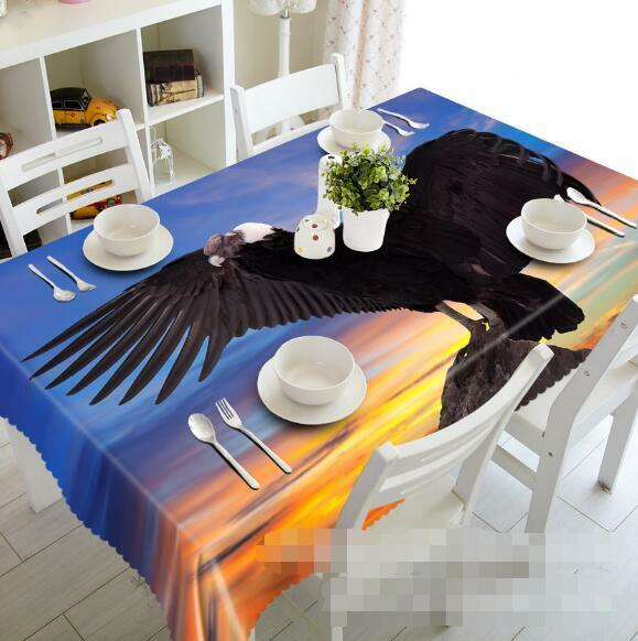 3D Eagle 988 Tablecloth Table Cover Cloth Birthday Party Event AJ WALLPAPER AU