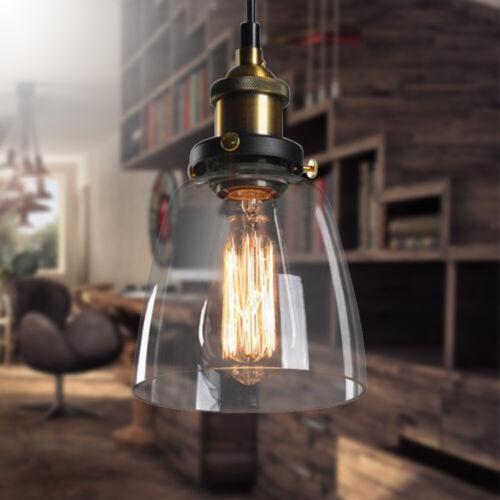 Retro Deckenlampe Pendelleuchte Hängeleuchte Decken-Leuchte Glass Lamp Shade