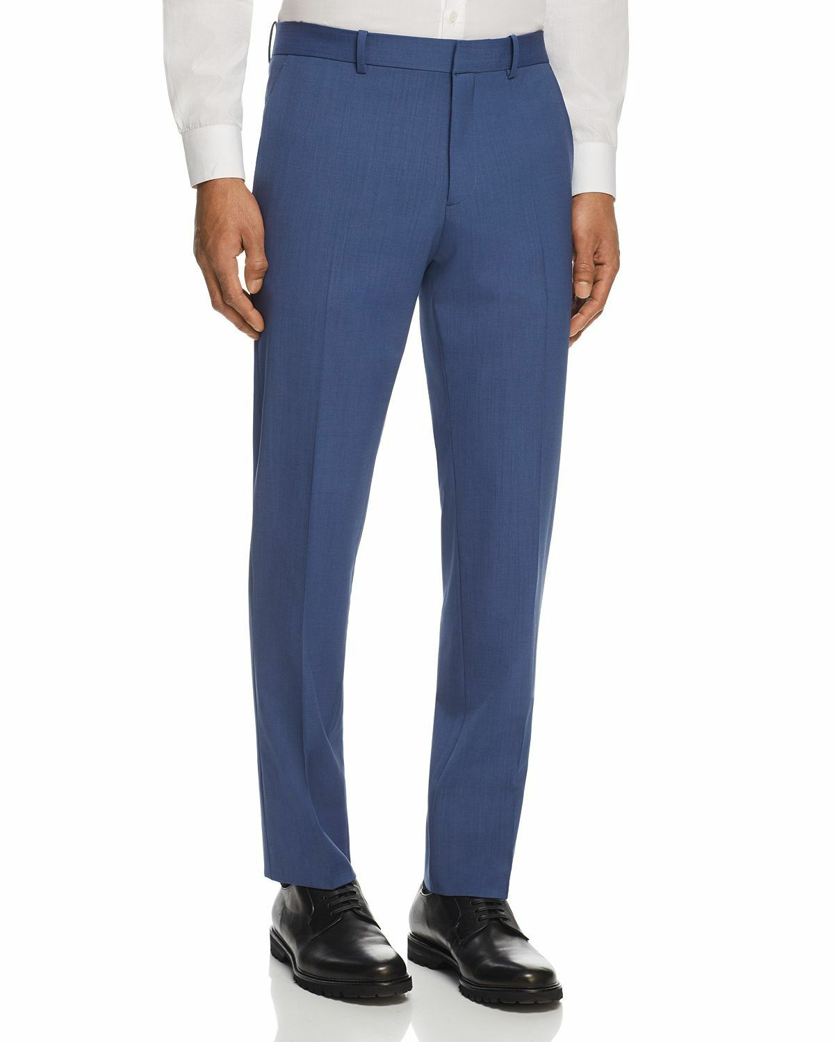Theory Mens blueE SLIM FIT WOOL SUIT DRESS FLAT TROUSER PANTS 36W 29L