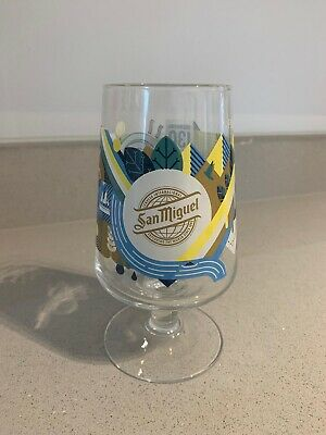 SAN MIGUEL CASCADA PINT GLASS CHALICE 130 YEARS LIMITED EDITION 2020