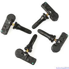 4PCS Genuine FOR Ford Motorcraft Tire Pressure Sensor TPMS DE8T-1A180-AA Black^^