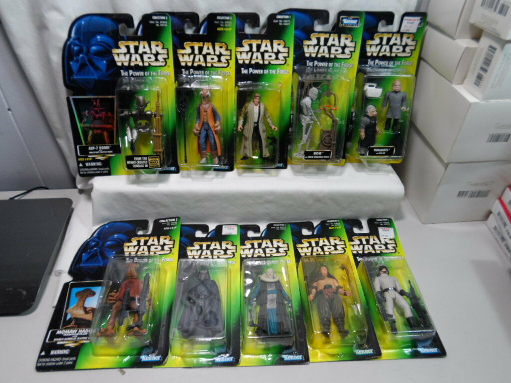 Lot of 10 Kenner Star Wars The Power of The Force Action Figures Han Solo 8D8
