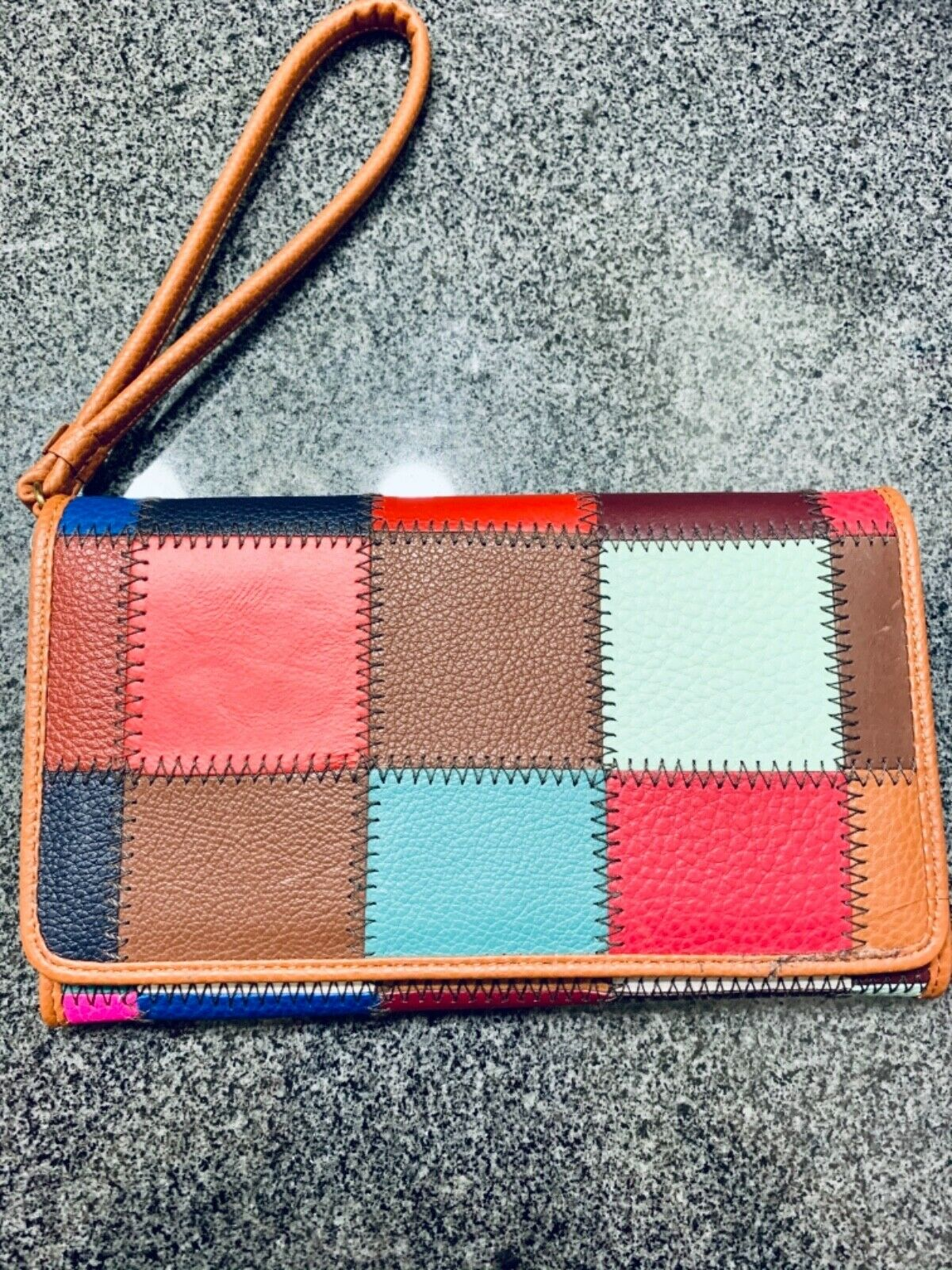New Kooba Wallet Leather multi color patch Wallet