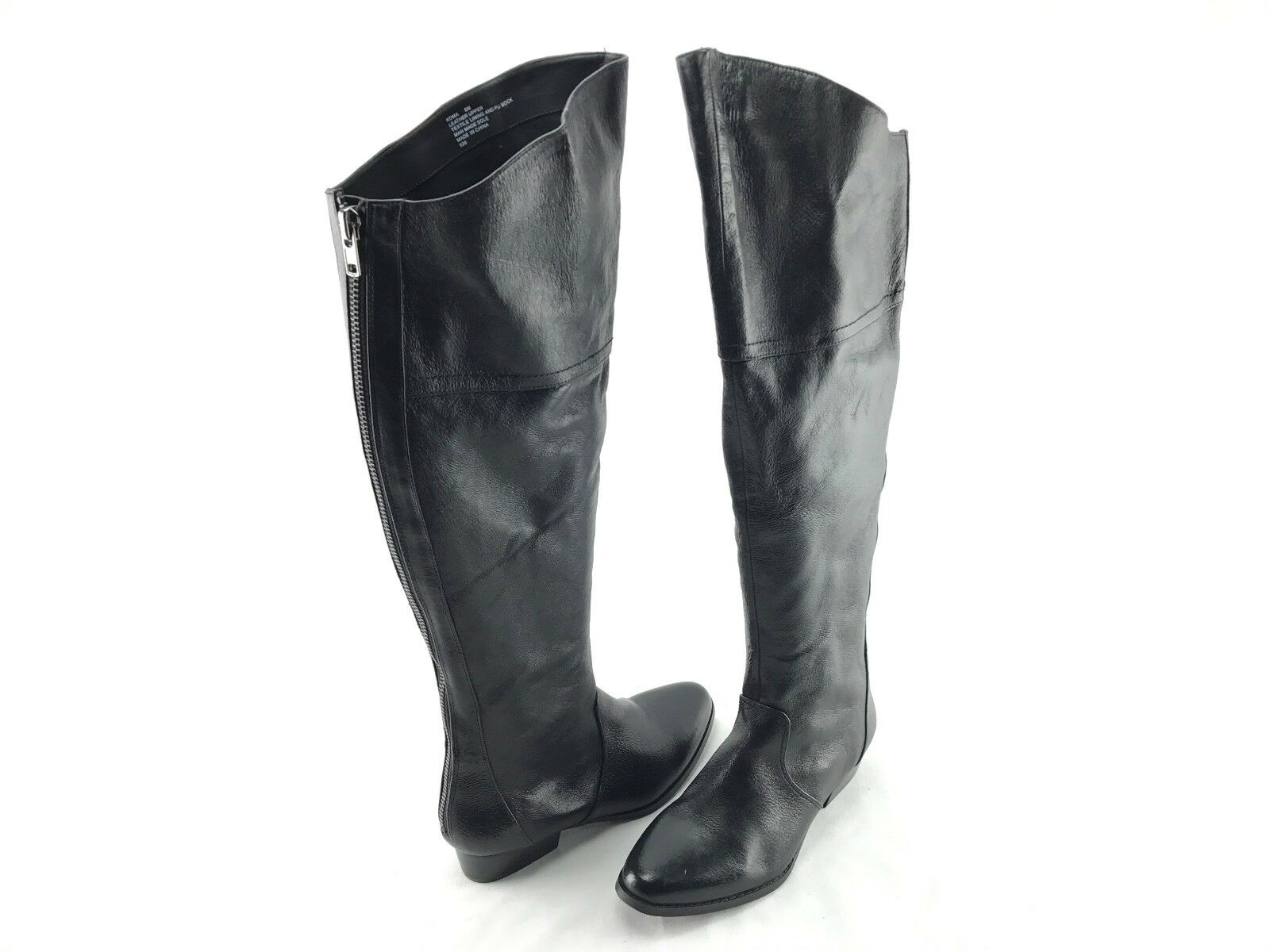 Steve Madden Koma Femmes en Cuir Noir Dessus du Genou Bottes US Taille 8 M Chaussures  725
