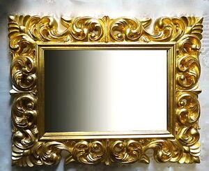 Großer Barock Wandspiegel Ornament 70x90 Standspiegel Spiegel Gold