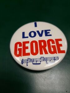 I-Love-George-Button-Pin-2-1-8-034-Collectible-Pin-USA-Beatles-Memorabilia