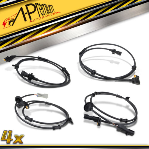 A-Premium 4x Front /& Rear ABS Speed Sensors for 1999-2004 Jeep Grand Cherokee WJ