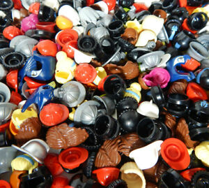 Minifigure Hat Lot of 25 Hats Helmets Hair Great Variety LEGO