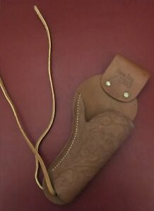 Vintage Saddle King Of Texas Single Leather Cap Gun Holster From The
