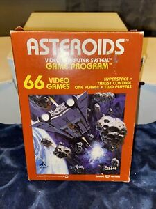 Asteroids (Atari 2600, 1981) By Atari (Box, Cartridge & Manual)