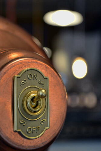 Brass Plated 6A//120V Steampunk Switch 2-Wire Toggle Switch on//off