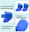 thumbnail 7 - 4Pcs-Protective-Waterproof-Dog-Cat-Rain-Boots-Silicone-Pet-Shoes-Adjustable-Paw