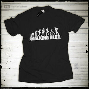 Evolution-of-the-Walking-Dead-Walker-Kult-T-Shirt-Zombie-Fun-Daryl-Dixon-Fan