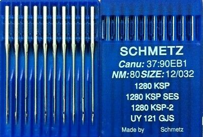 SCHMETZ SYSTEM:UY121GBS CANU:38:43FB NM:80//032 INDUSTRIAL SEWING MACHINE NEEDLE