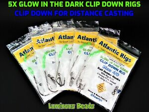 5-X-SEA-FISHING-GLOW-IN-THE-DARK-LONG-DISTANCE-CLIP-DOWN-RIGS-COD-BASS-PLAICE