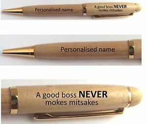 Image Is Loading PERSONALISED BOSS TEACHER MANAGER ENGRAVED PEN FUNNY NOVELTY