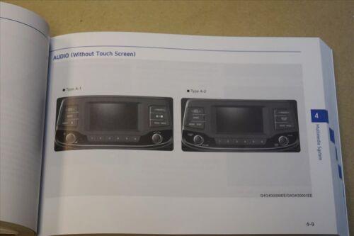 HYUNDAI i30 2017-2019 OWNERS MANUAL HANDBOOK AUDIO RADIO MULTIMEDIA BOOK