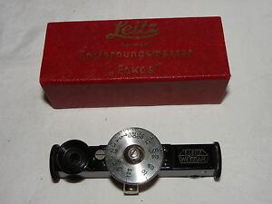 Leica Entfernungsmesser Fokos : Ernst leitz wetzlar entfernungsmesser fokos rangefinder in ovp ebay