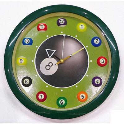 Orologio Da Parete Palla Da Biliardo N.8 Colore Verde Durable In Use Nuovo Da Magazzino